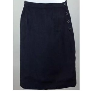 Christopher Banks Skirt 6 Faux Suede Side Buttons